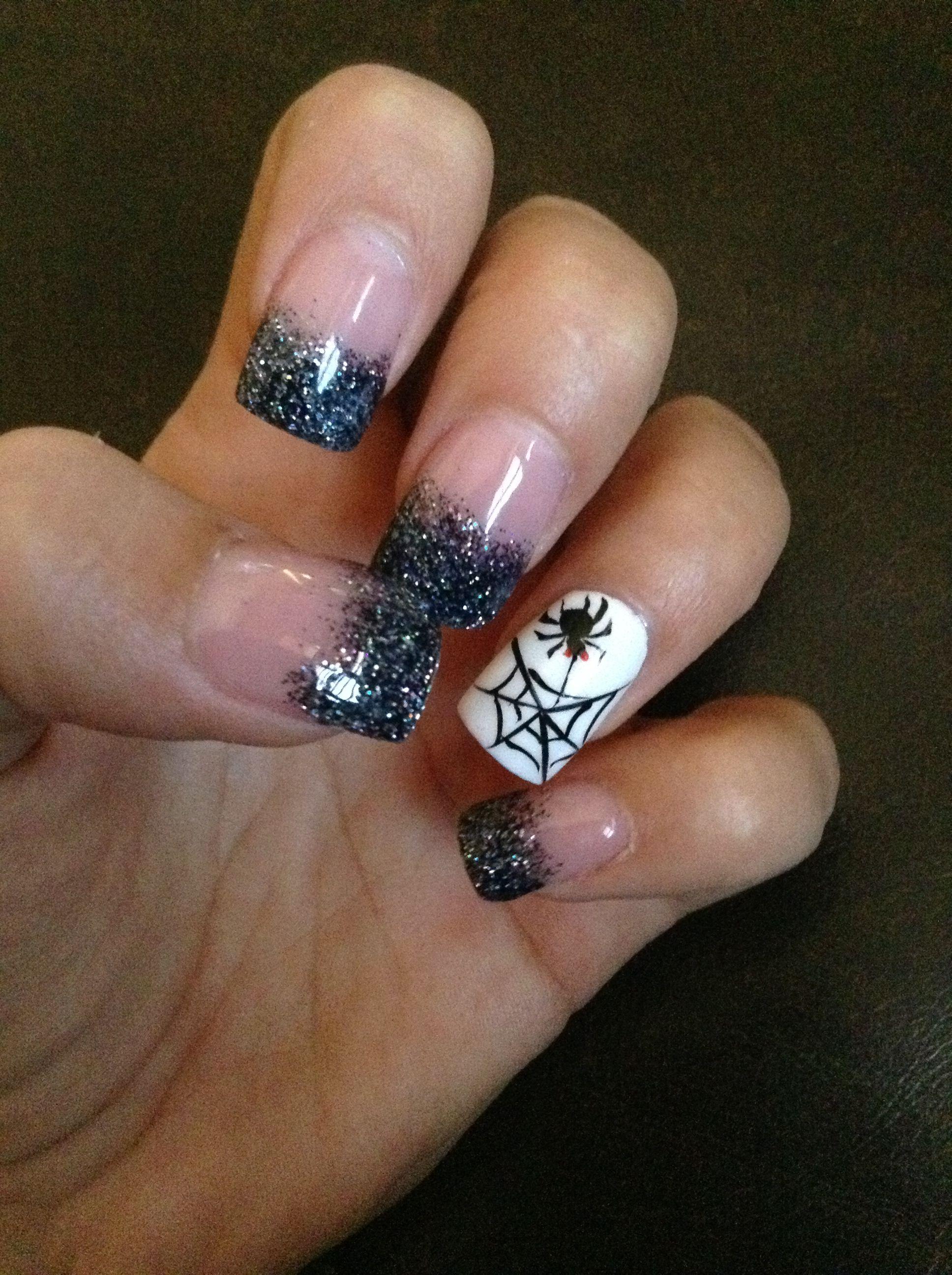 Halloween nail art nailsnails u more nails pinterest nail