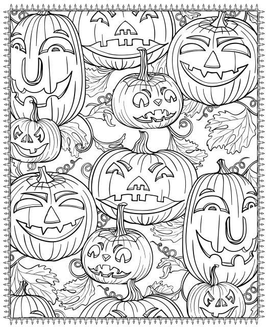 Pumpkin Faces Printable Halloween Coloring Pages Printable Pumpkin Coloring Pages Free Halloween Coloring Pages