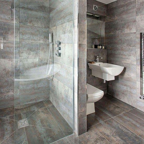 baño+con+ceramicos+de+color+gris.jpg (550×550)  Proyectos ...