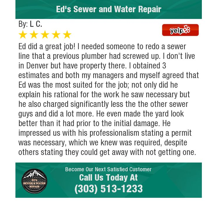 Ed Did A Great Job I Needed Someone To Redo A Sewer Line That A Previous Plumber Had Plumber Sewer Screwed Up