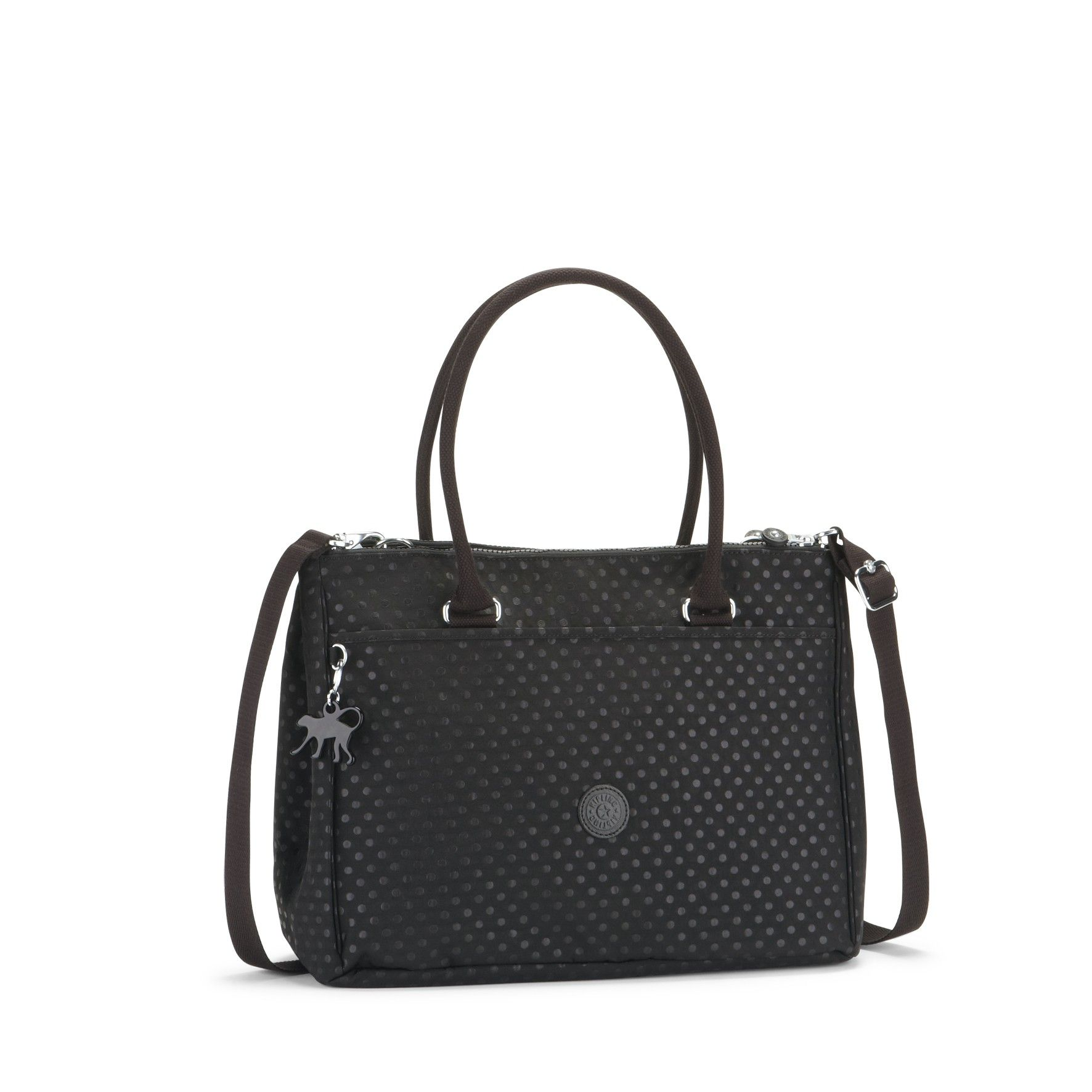 Kipling - NEW HALIA - Black Dots A4 Shoulder Bag