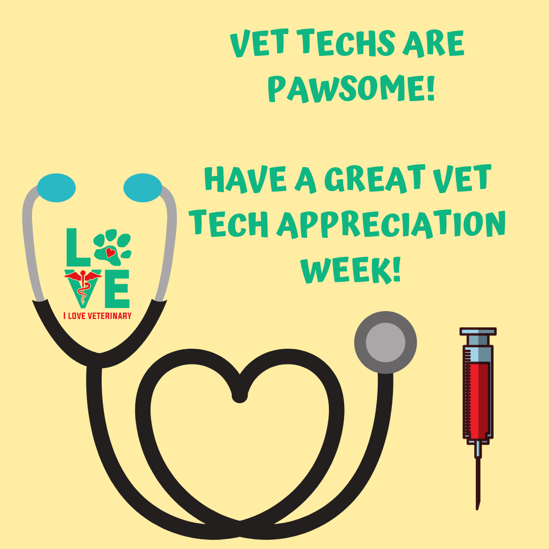 Yes, you are pawsome! Have a great Vet Tech Week ️ ️ ️