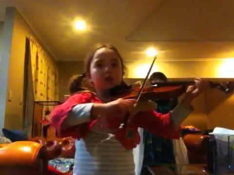 Minuet 1 by Bach [duet version]; Practice at home. See more of this young violinist #from_MoonDrury