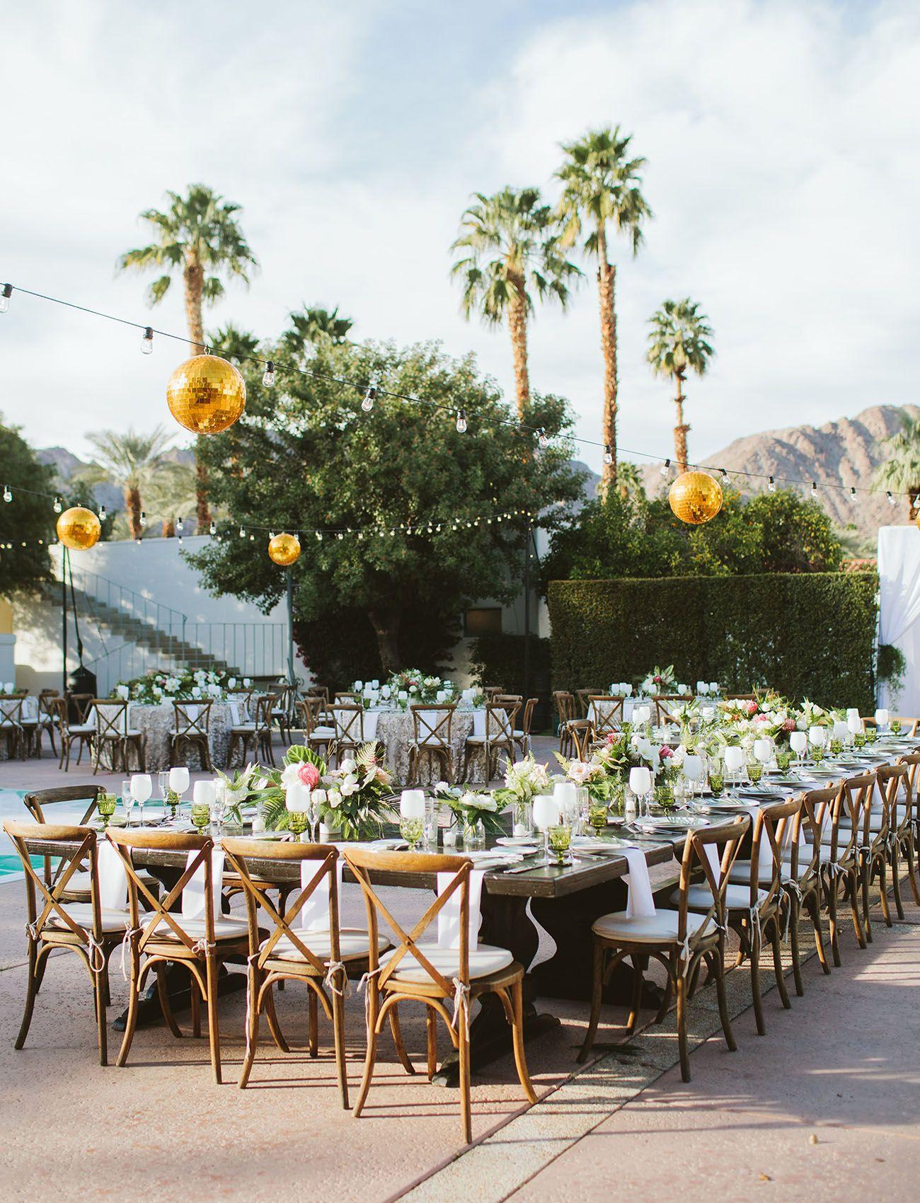 Stylish Fun California Desert Wedding Sam Adam Wedding