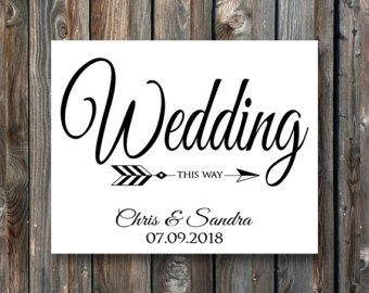 PRINTABLE Wedding This Way Sign–Personalized Wedding This Way Sign ...