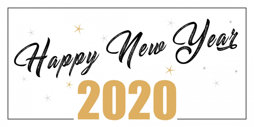 ⚡Happy New Year 2020 Text PNG HD Vector (7) Feliz año
