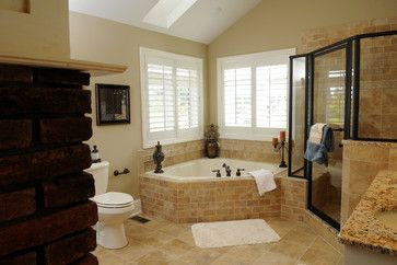 Master Bathroom Corner Tub With Windows | Corner Whirlpool Tubs Design  Ideas, Pictures, Remodel, And Decor