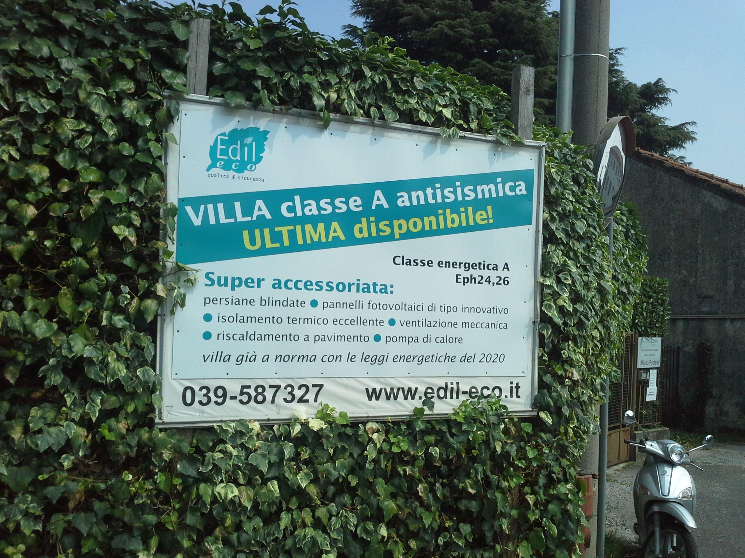 Ultima villa singola in classe A a Merate Lc.  Già a norma con le leggi energetiche del 2020!