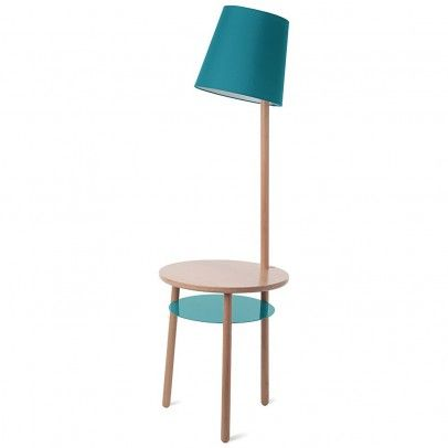 Josette lamp and table in one - blue Turquoise  Hartô