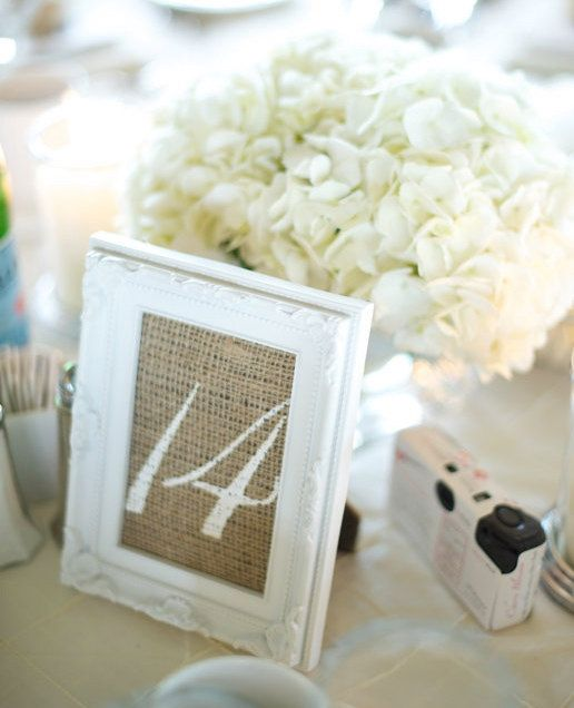 "10 BURLAP TABLE NUMBER 4 x 6"" Inserts - 1 - 10  Can Customize Numbers - choose Colors to go with your theme- Shabby chic, rustic, farm on Etsy, $20.00"