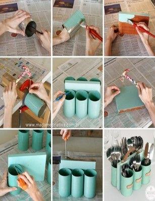 Как да си направим поставка за прибори от консервни кутии - Как да - Edna.bg