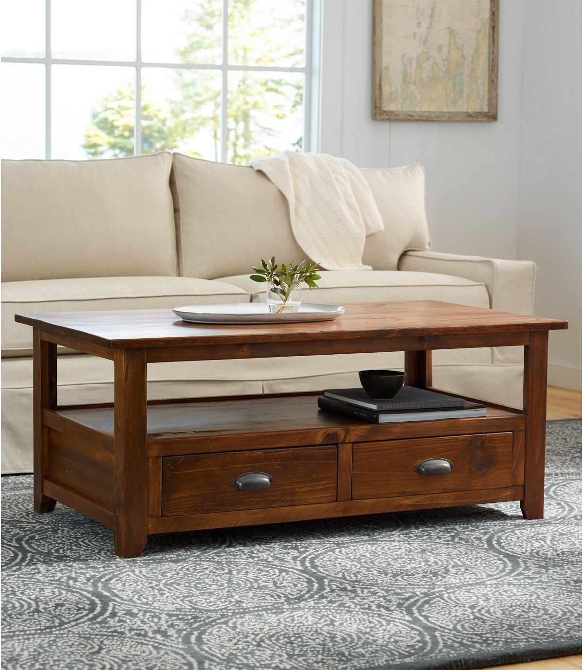 Rustic Wooden Coffee Table Rustic Wooden Coffee Table Furniture New England Furniture [ 1379 x 1200 Pixel ]