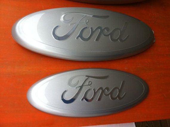 Custom Ford Emblem Silver Chrome Logo 2004 2017 Models F 150 Edge Ranger 9 Inch Front Or Rear