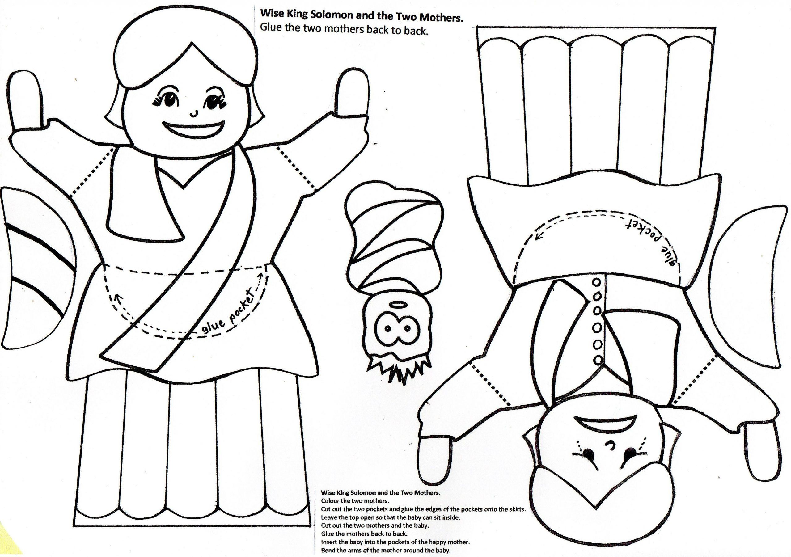 King Solomon Coloring Page Pages Printable Wisdom