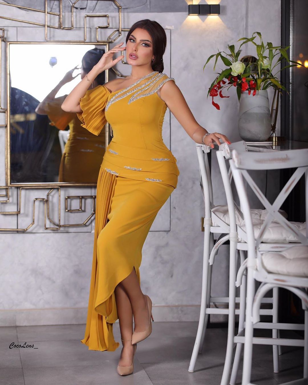 1 789 Mentions J Aime 79 Commentaires حسابات المصممين Joooore66 Sur Instagram Evening Dresses Short Prom Dresses Yellow Evening Gowns With Sleeves
