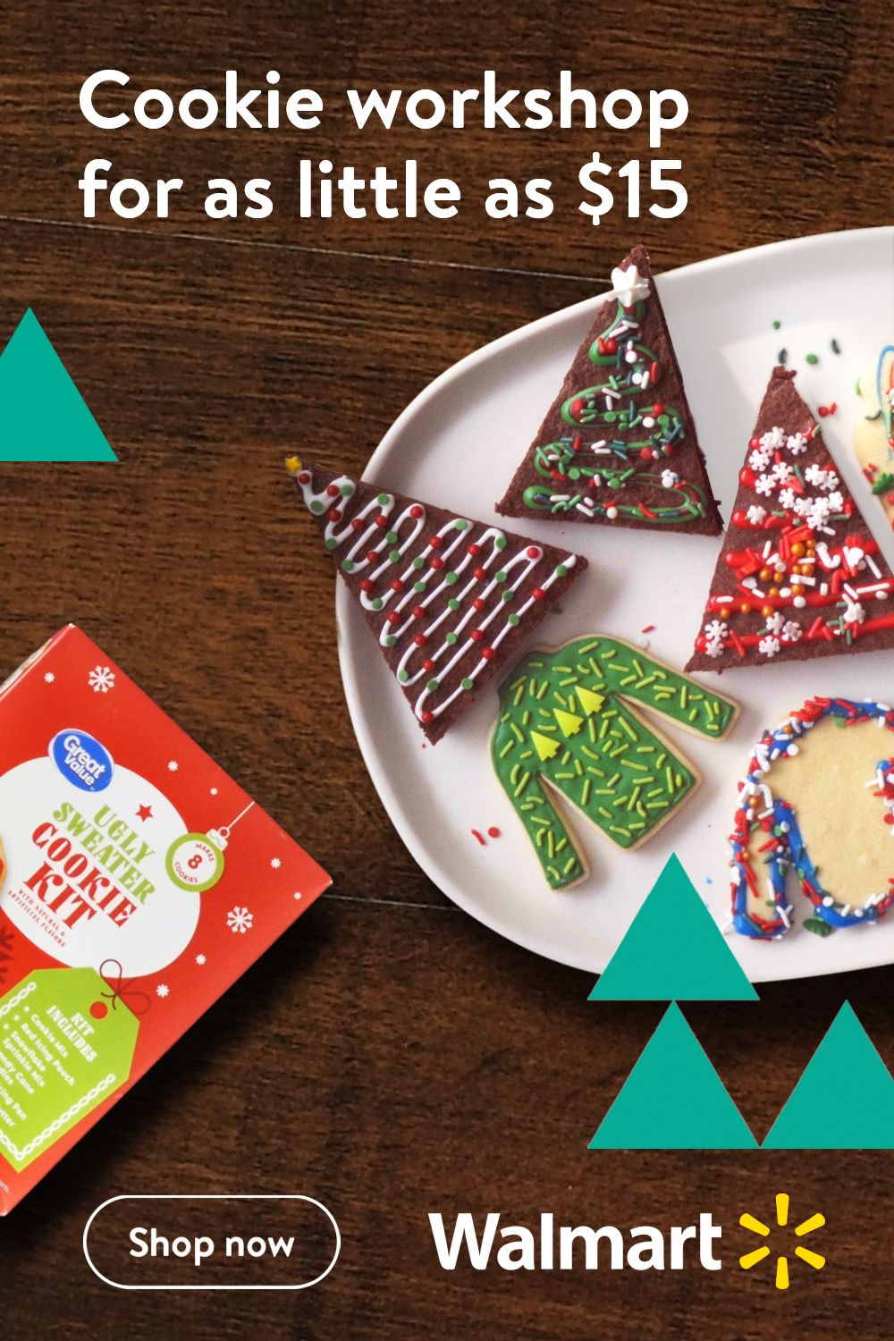 Walmart knows the holidays are all about creating family traditions. And there's no better or easier tradition than making warm holiday cookies and brownies with your kids. No tastier one either. ​