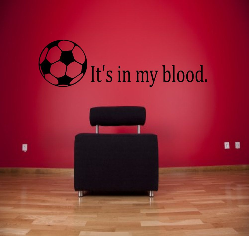 Popular Items For Soccer Wall Decal On Etsy