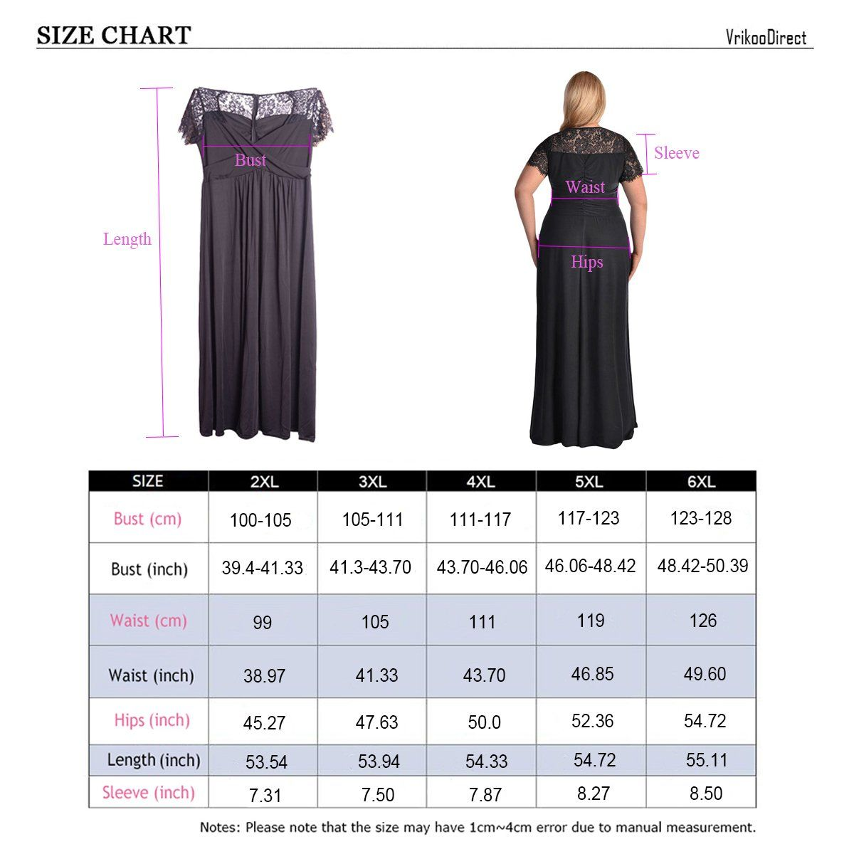 Vrikoo womens sexy v neck lace short sleeve casual plus size formal