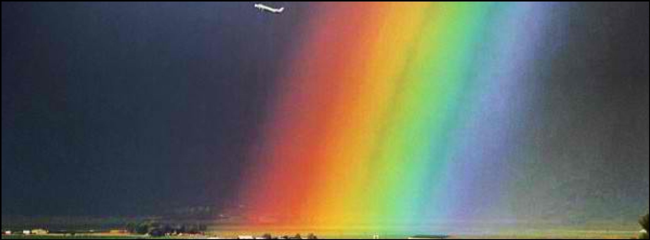 Airplane Rainbow Beauty And Nature Facebook Cover Photo Fb