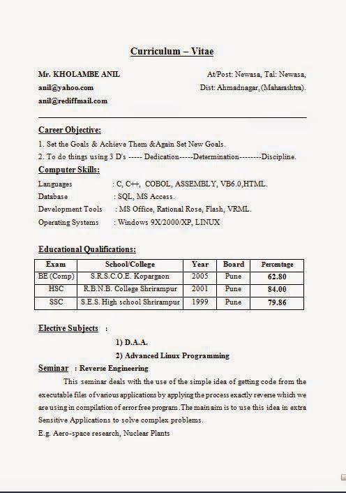 it cv template word Sample Template Example of ExcellentCV / Resume ...