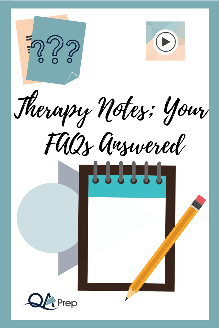 Therapy Notes Your FAQ's Answered Therapy Progress