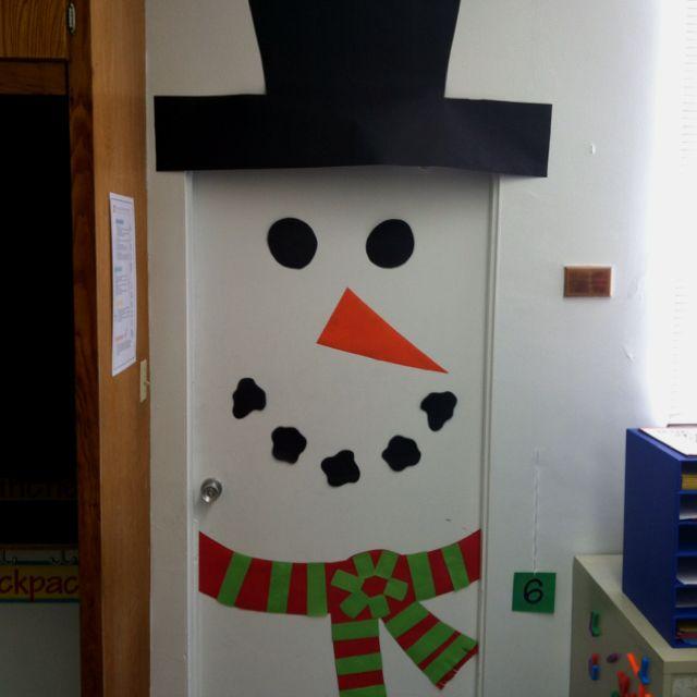 Snowman door decoration & Snowman door decoration   Classroom door decor   Pinterest   Snowman ...