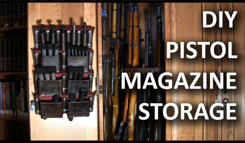 Making a pistol magazine storage rack magazine storage