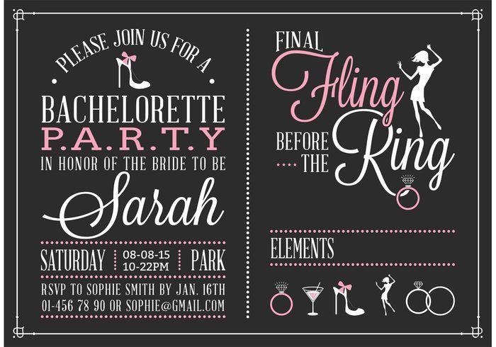 Free Bachelorette Party Invitation Vector 104568 Events Free Download Bachelorette Invitations Party Invite Template Free Bachelorette Party Invitations