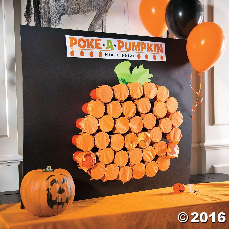 Poke A Pumpkin Halloween Party Game Halloween Class