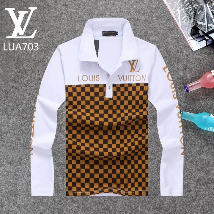 Louis Vuitton Long Sleeve Polo Shirts Men Lv95863a Stilo