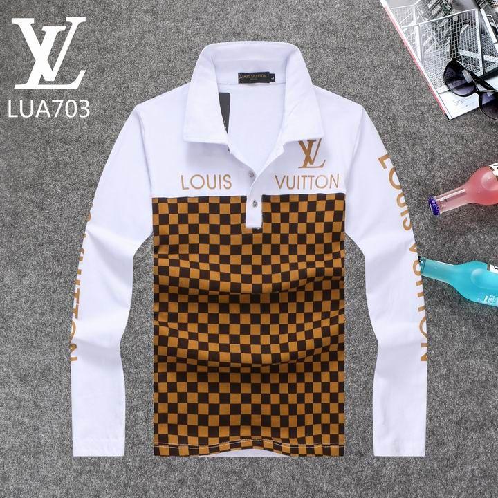 Louis Vuitton Long Sleeve Polo Shirts Men Lv95863a Stilo Unico In