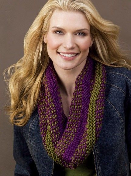 Follow This Free Knit Pattern To Create A Infinity Scarf Using Caron