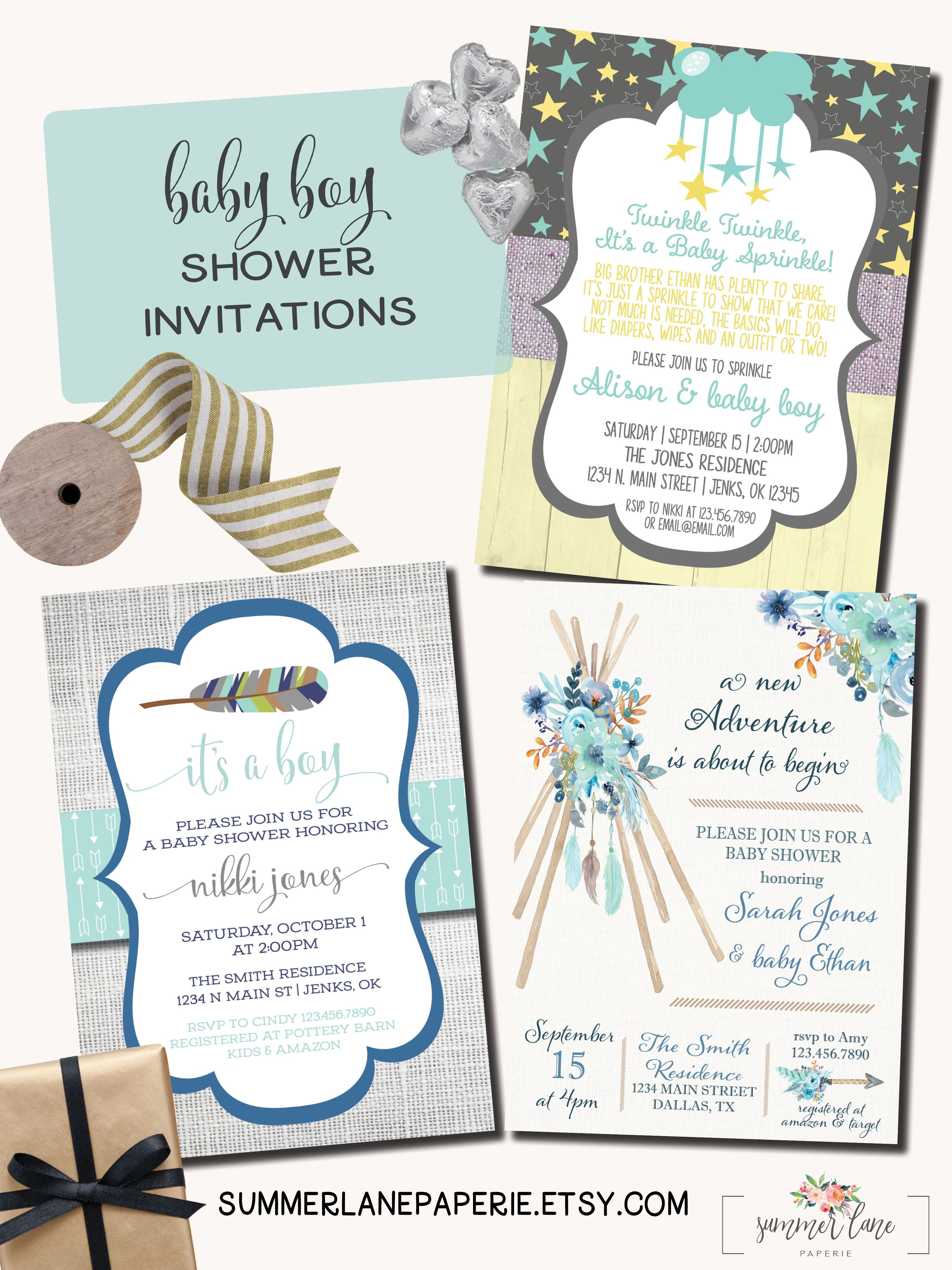 So many adorable baby boy shower invitations available at ...