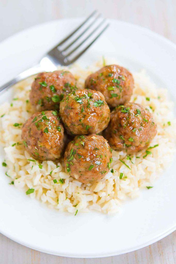 Honey Garlic Baked Turkey Meatballs - Easy Dinner