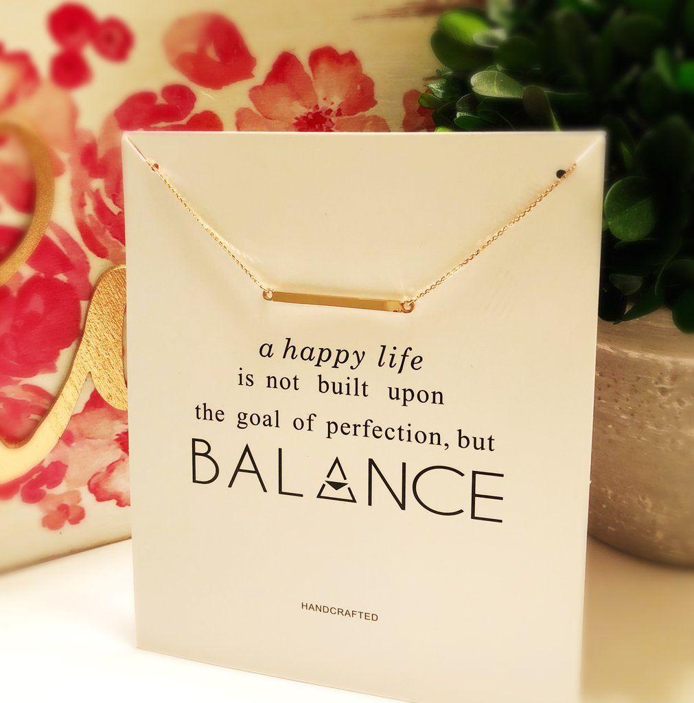 14K Solid Rose Gold Balance Necklace Rose gold, Gold, Solid
