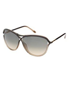 7d2e98fbbb Tom Ford Eyewear Grey And Yellow Ochre Tabitha Sunglasses