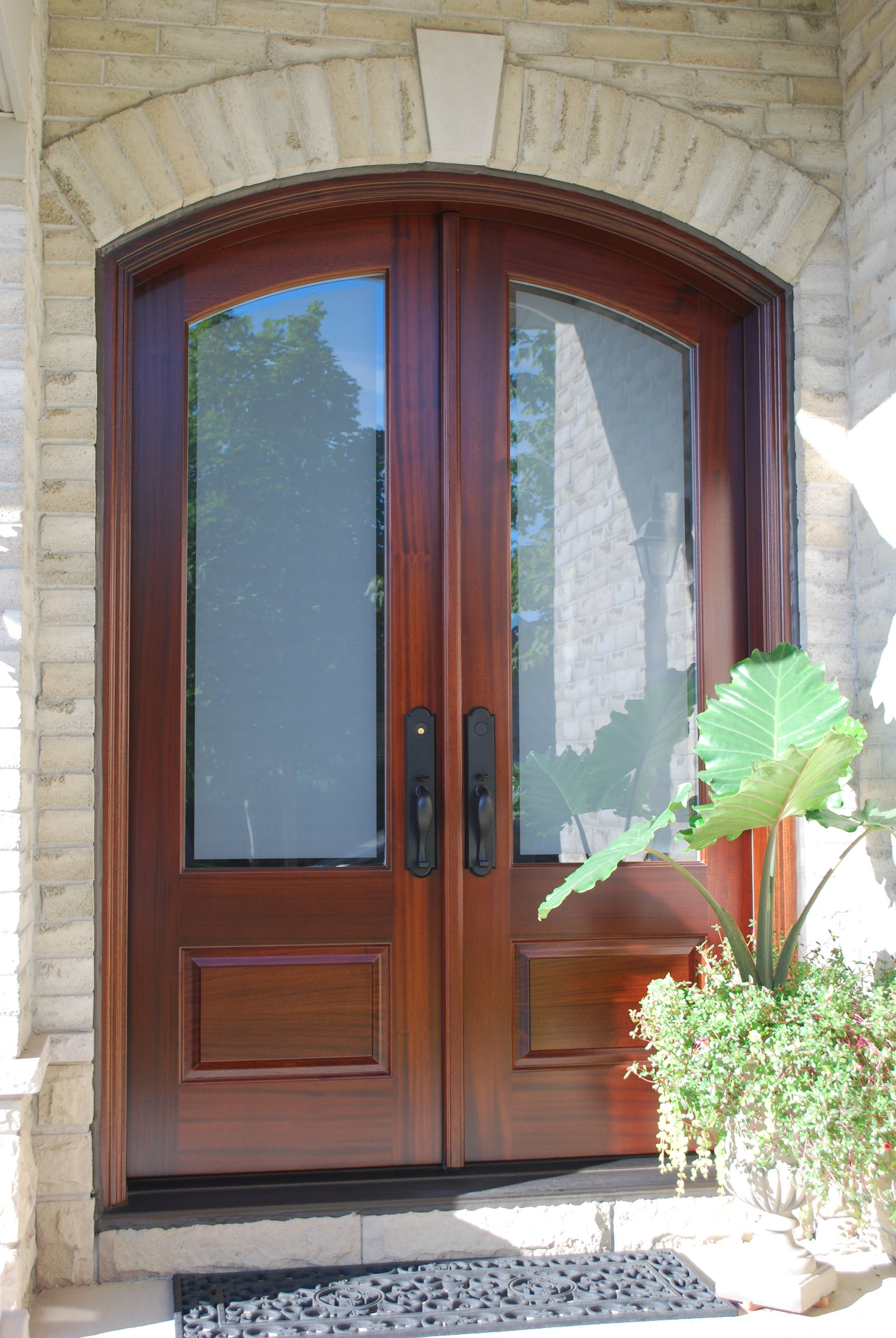 This Is A Stunning Camber Top Double Door With San Miguel Stain