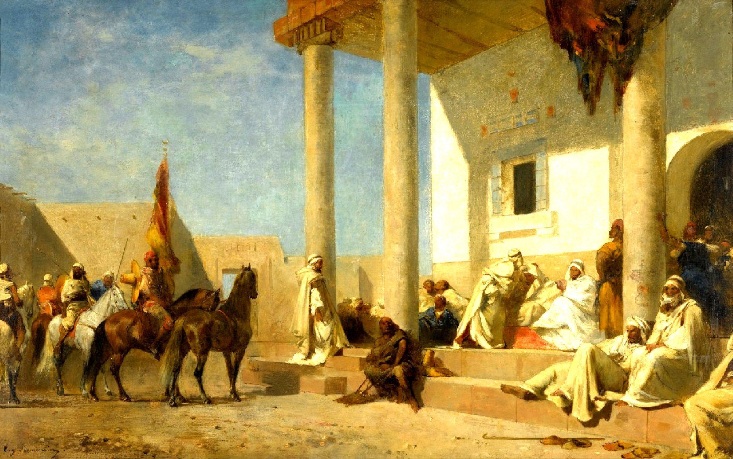 AUDIENCE CHEZ UN KHALIFAT (SAHARA) Eugène Fromentin 1820