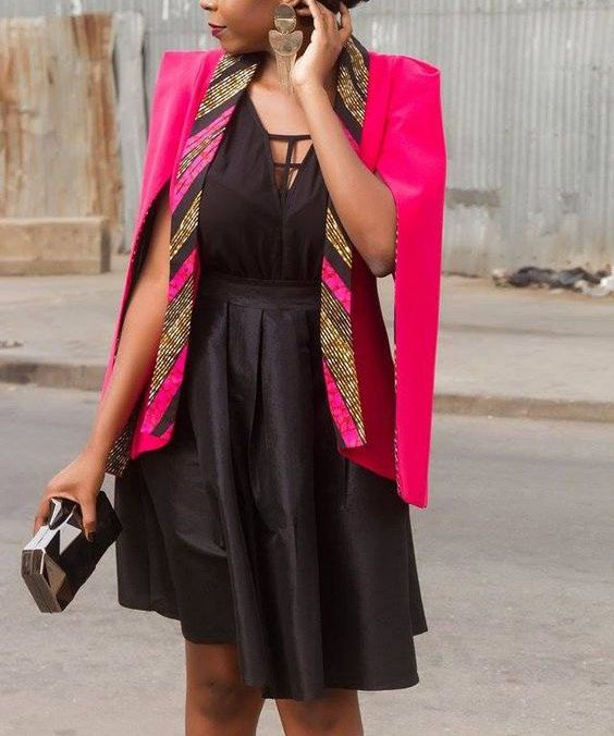 Cape Sleeve Ankara Blazer by Africandressshop on Etsy