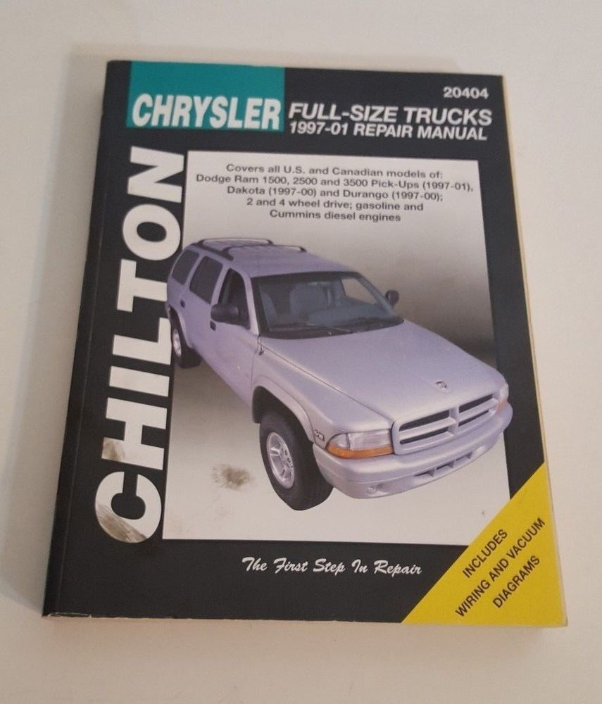hight resolution of chilton chrysler full size truck repair manual 1997 01 wiring gas diesel 9663