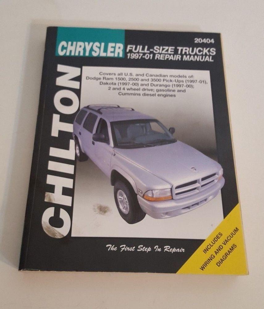 medium resolution of chilton chrysler full size truck repair manual 1997 01 wiring gas diesel 9663