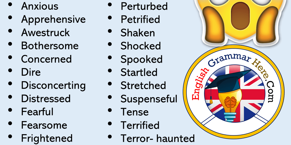 Synonym Words – SCARED, English Vocabulary | Vocabulary list, Vocabulary,  English grammar