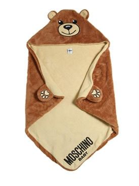 7dfcc433ecf moschino - kids-boys - bed time - teddy bear plush hooded blanket ...