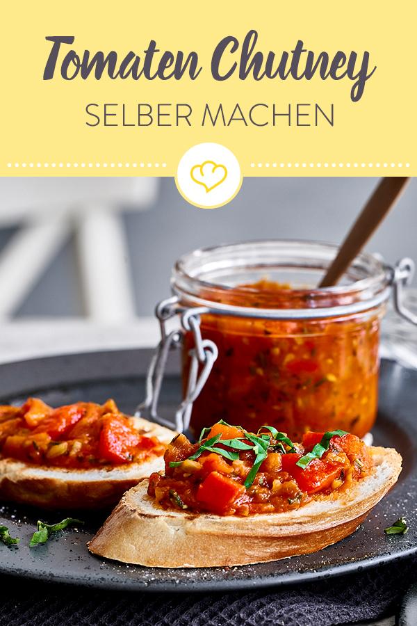 Photo of Tomaten-Chutney mit Paprika und frischem Basilikum