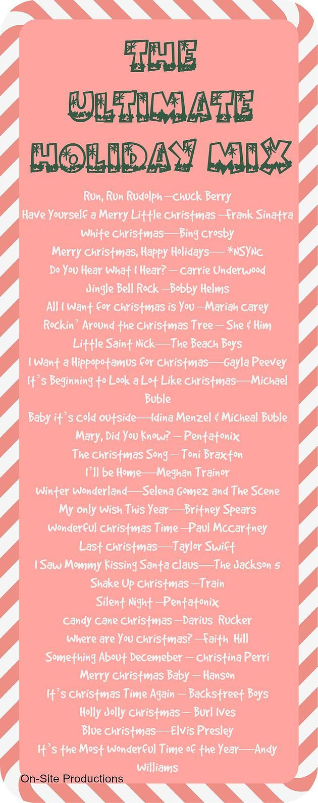 I love this mix! The Ultimate Holiday Mix is perfect for