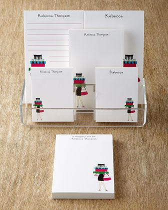 Shopping Girl Note Pads - Neiman Marcus Christmas Book