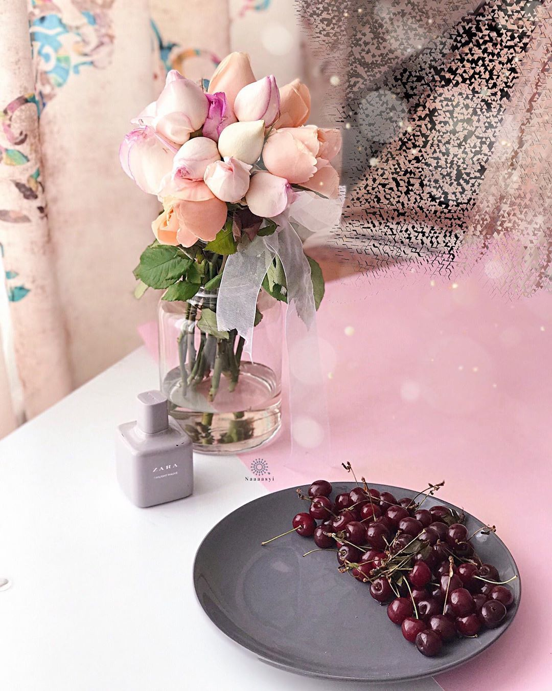 Hope You Started Awesome Week Full Of Energy Full Of Happiness And Health از گل ها زیباتر نیست عطر خوبشون گلبرگ های Table Decorations Decor Home Decor