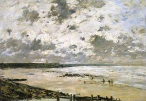 The Beach, Cloudy Sky, 1885 - Eugène-Louis Boudin - The Athenaeum