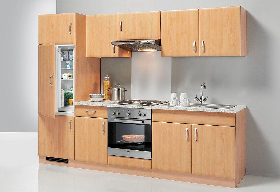 Küchenzeile mit E-Geräten »Prag«, Breite 270 cm - Set 1 Jetzt - küchenblock 260 cm