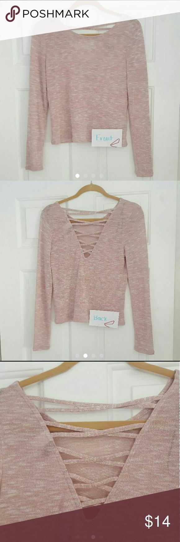 H&M strappy back crop top Light pink/blush Size medium Never worn H&M Tops Crop Tops